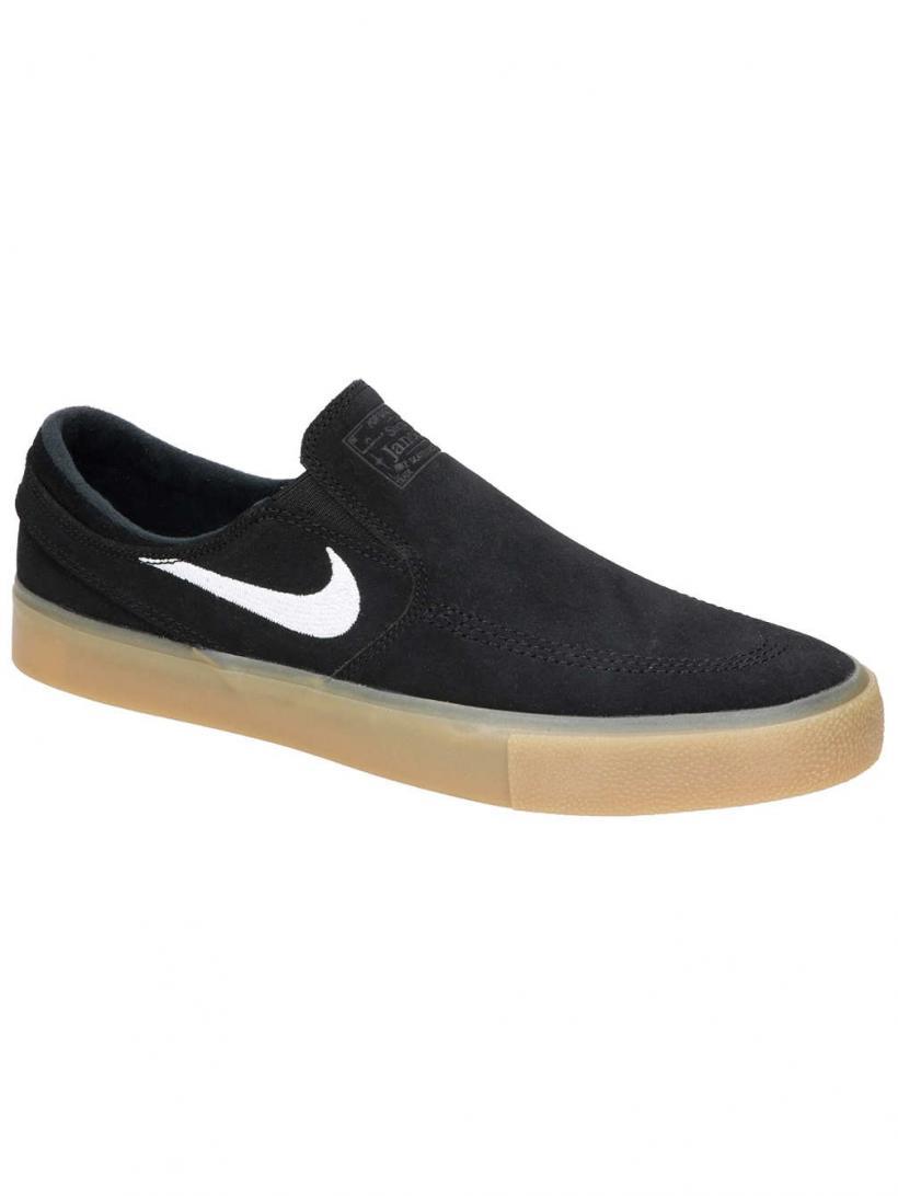 Nike SB Zoom Janoski RM Slip-Ons Black/Wht/Black/Gum Light | Mens/Womens Slip-Ons