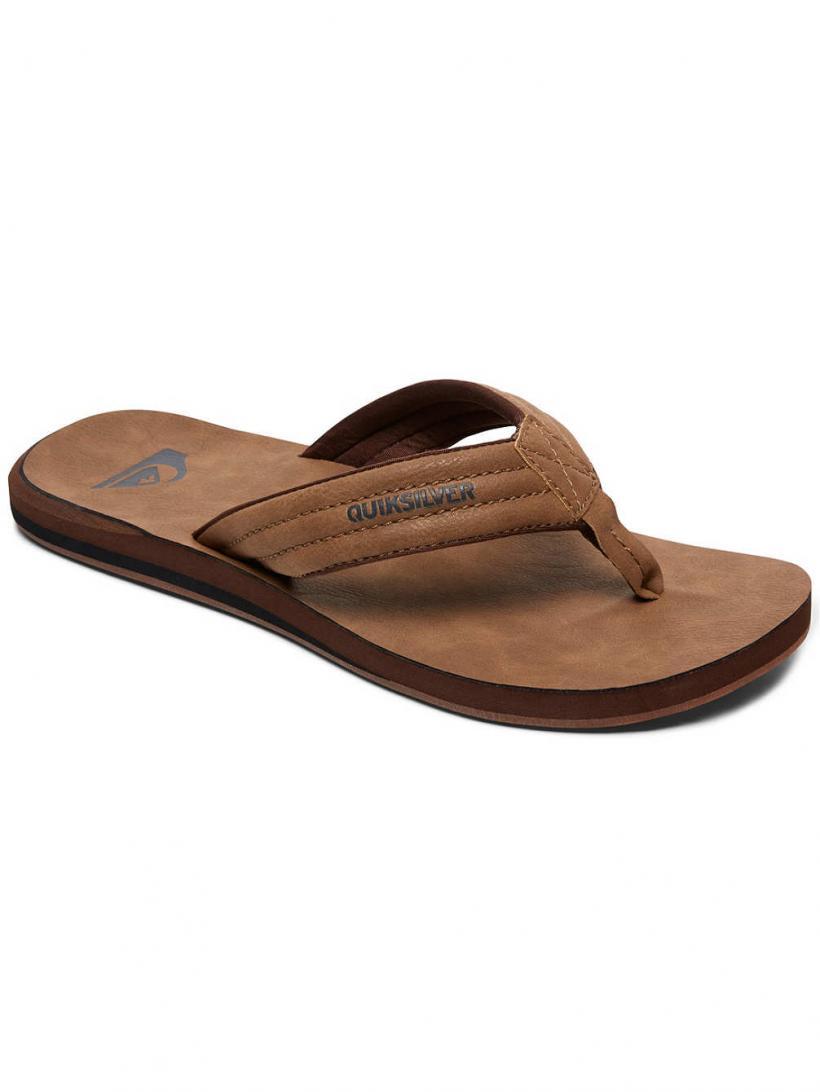 Quiksilver Carver Nubuck Tan / Solid | Mens Sandals