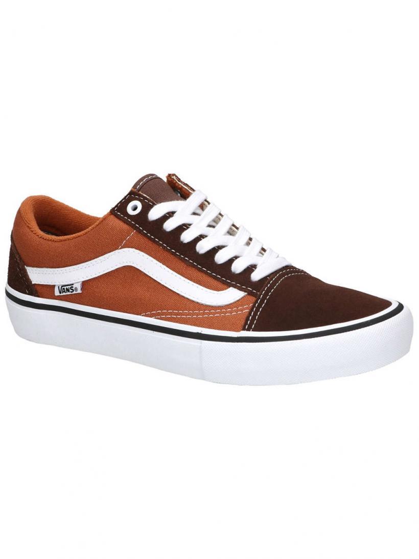 Vans Old Skool Pro Potting Soil/Leather Brow | Mens Skate Shoes