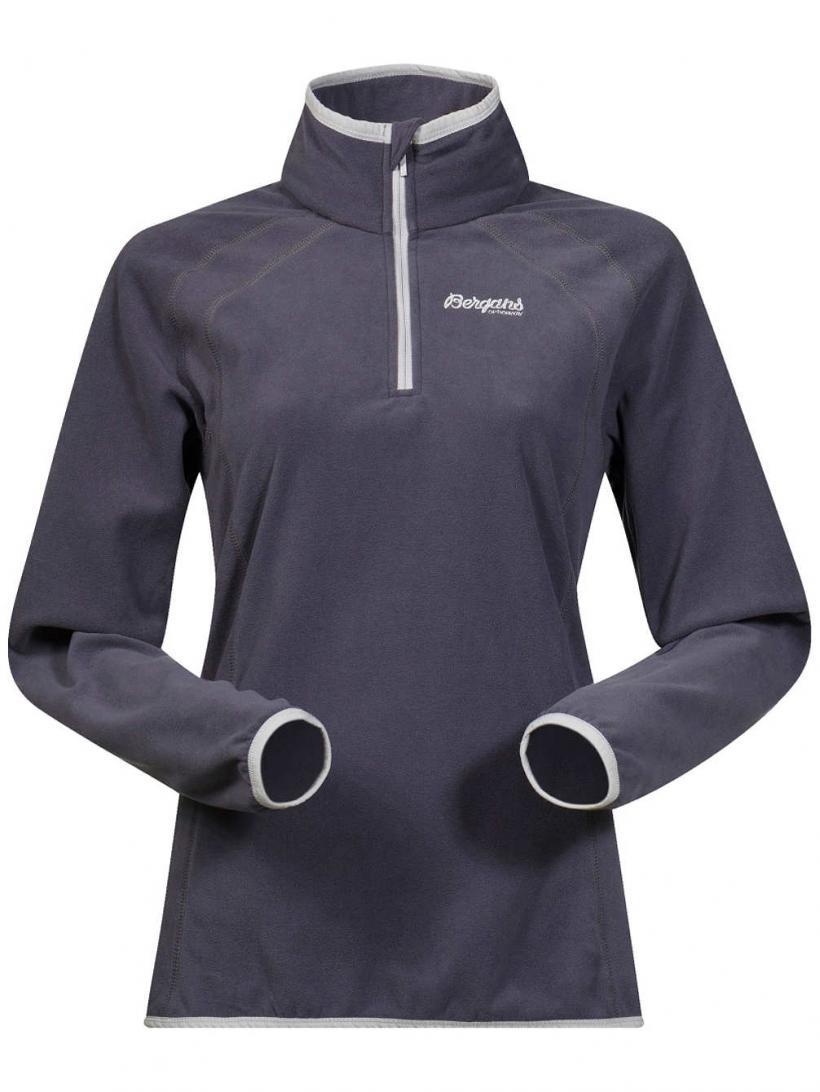Bergans Ombo Half Zip Fleece Pullover Nightblue/Alu/Soliddkgrey | Womens Jackets