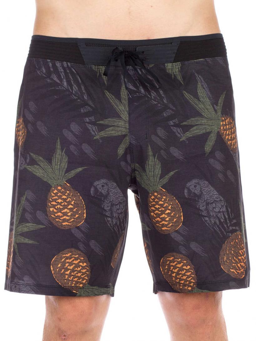 Hurley Phantom HW 3.0 Pineapple Boardshorts Black | Mens Swimwear