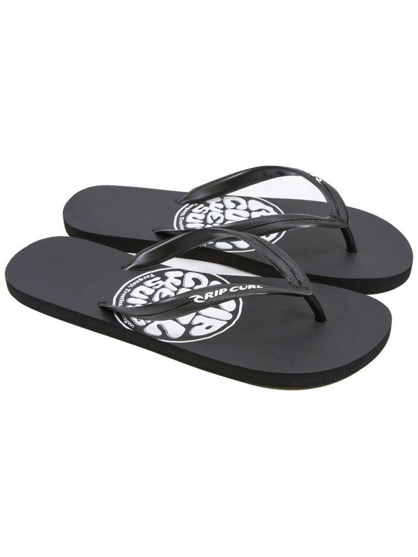 Rip Curl Brushed Wettie Logo Black | Mens Sandals