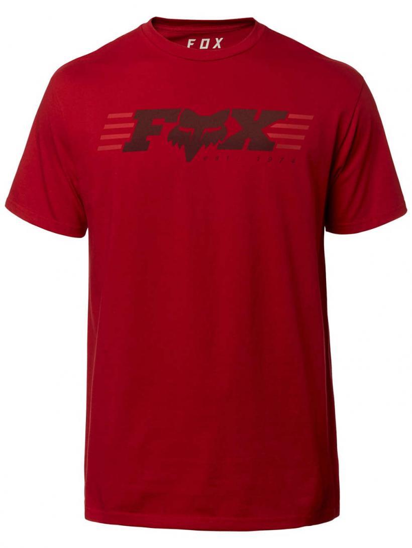 Fox Muffler T-Shirt Cardinal   Mens T-Shirts