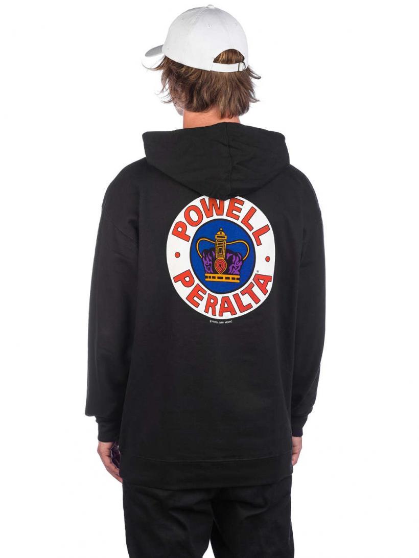 Powell Peralta Supreme Medium Weight Hoodie Hoodie Hoodie Black Red White   Mens Pullovers