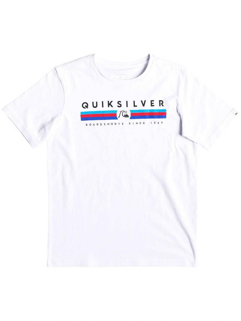 Quiksilver Get Bizzy T-Shirt White | Mens T-Shirts